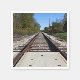 Railroad Train Tracks Photo Paper Napkins
