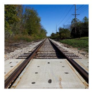 Railroad Train Tracks Photo Poster