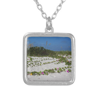 Railroad Vines on Boca I Silver Plated Necklace