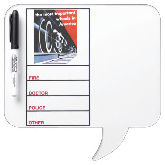 Railroads-Most Important Wheels in America Dry-Erase Whiteboards
