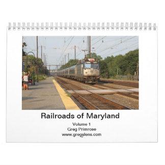 Railroads of Maryland Volume 1-Captioned Wall Calendar