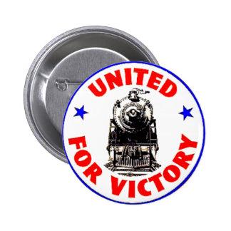 Railroads United For War Effort 1940 2 Inch Round Button