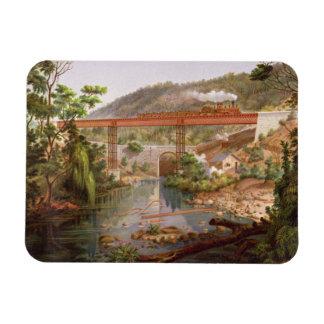 Railway Bridge at Atoyac, from 'Album of the Mexic Flexible Magnet