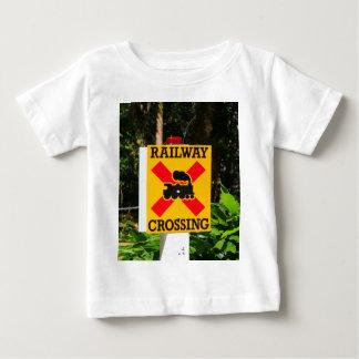 Railway crossing sign baby T-Shirt