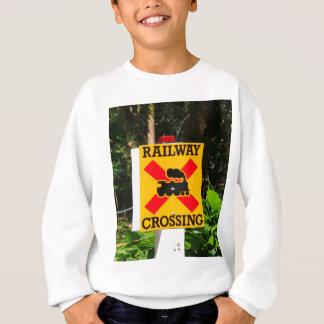 Railway crossing sign sweatshirt