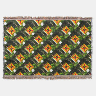 Railway crossing sign throw blanket