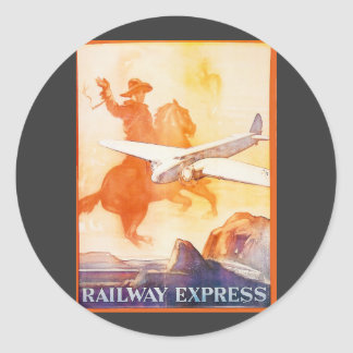 Railway Express Agency 1935 Sticker