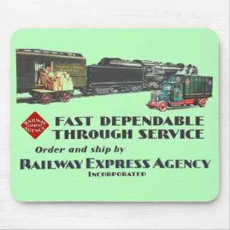 Railway Express Fast Dependable Service Mouse Pad