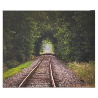 Railway green beautiful scenery wrapping paper