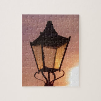 RAILWAY LANTERN SUNSET JIGSAW PUZZLE