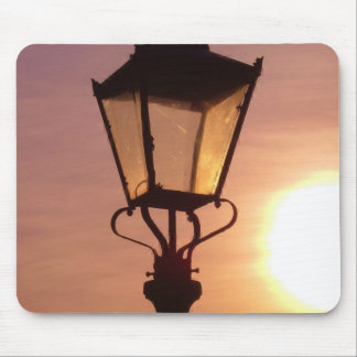 RAILWAY LANTERN SUNSET Mouse Pad Mat