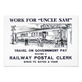 Railway Postal Clerk Poster 1926 Photo Print