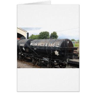 Railway scene - tankers - vintage card