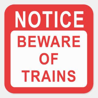 Railway Sign Square Sticker