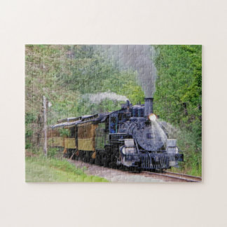 Railway Steam Engine Fine Art for Train-lovers Puzzle