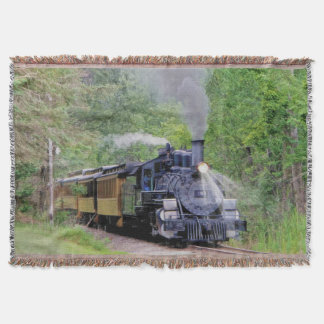 Railway Steam Train for Trainspotters Art Rug Throw Blanket