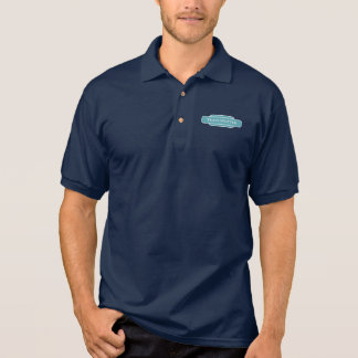 Railway Totem Train Spotter Blue Hiking Duck Polo Shirt