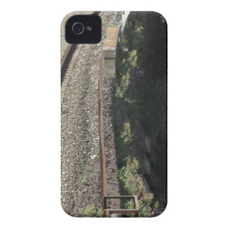 Railway tracks along the river Serchio near Lucca iPhone 4 Cases