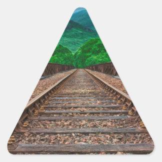 Railway Tracks Triangle Sticker