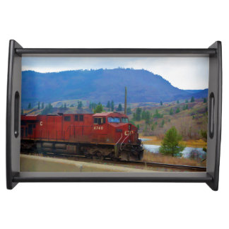 Railway Train for Trainspotters Art V Serving Tray