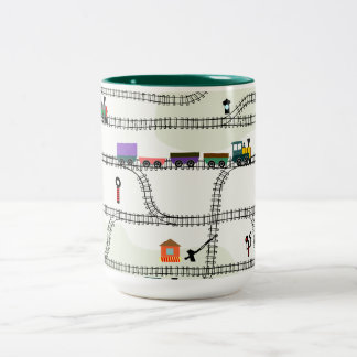 Railway Two-Tone Coffee Mug