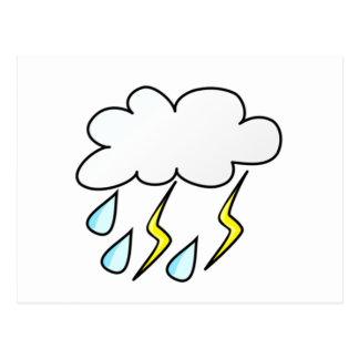 Rain and Lightning in Thunderstorm Postcard