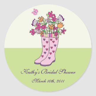Rain Boots Favor Sticker
