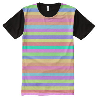 Rain Bow Colors American Apparel Buy Online Sale All-Over-Print T-Shirt