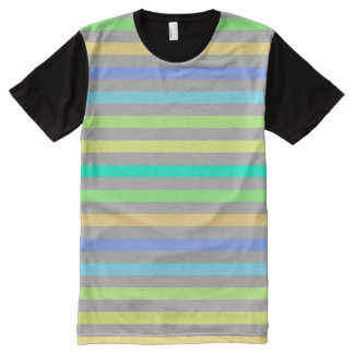 Rain Bow & Gray American Apparel Buy Online Sale All-Over-Print T-Shirt