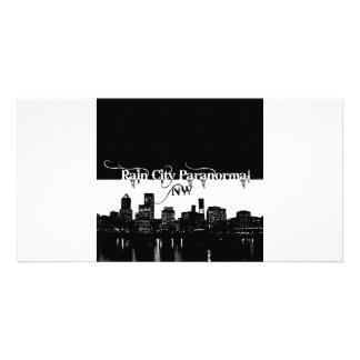 Rain City Paranormal -- Cityscape Photo Greeting Card