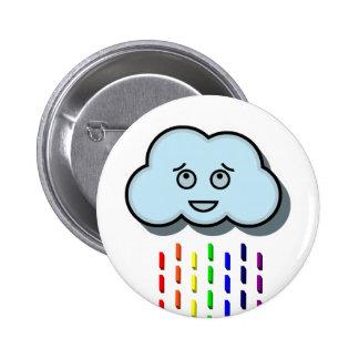 Rain Cloud 2 Inch Round Button