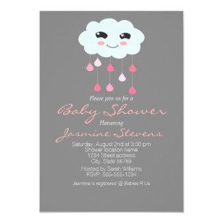 Rain Cloud Baby Shower Card