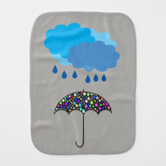 Rain cloud Burp cloth