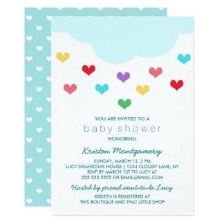 Rain Cloud & Hearts | Baby Shower Invitation