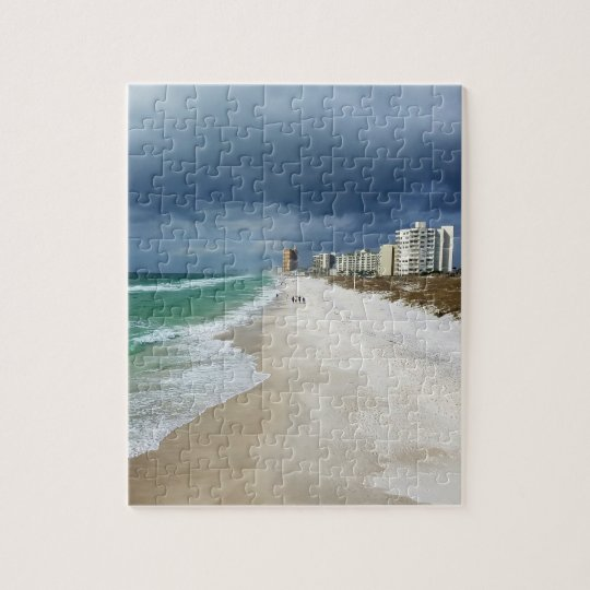 Rain Clouds over Panama City Beach, Florida Jigsaw Puzzle