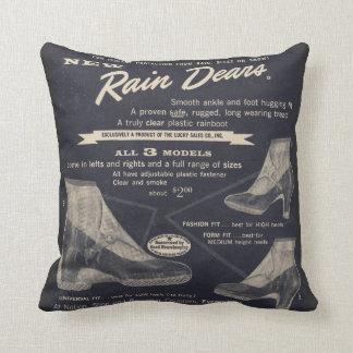 Rain Dears Throw Pillow