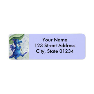 rain dragon return address labels