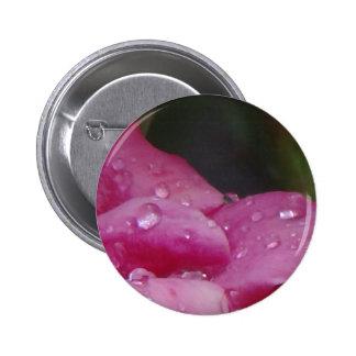 Rain Drop Flower 2 Inch Round Button
