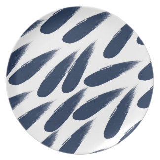 Rain Drops Abstract Melamine Plate