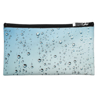 Rain drops makeup bag