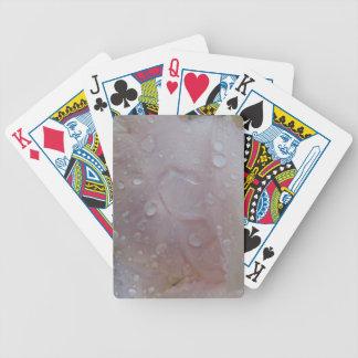 Rain Drops On An Iris Petal Bicycle Playing Cards