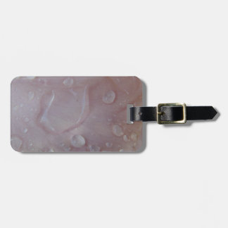 Rain Drops On An Iris Petal Luggage Tag