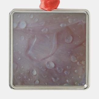 Rain Drops On An Iris Petal Metal Ornament