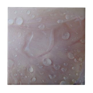 Rain Drops On An Iris Petal Tile