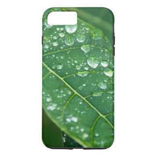 Rain Drops on Papaya Leaf iPhone 7 Plus Case