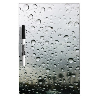 Rain Drops on the Windshield in California Dry Erase Whiteboards