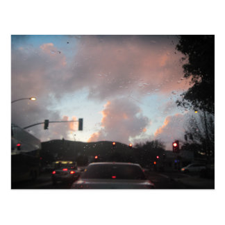Rain Falliing at Sunset in San Luis Obispo, CA Postcard