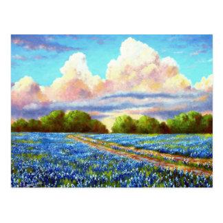 Rain For The Bluebonnets Postcard