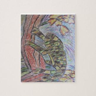 rain forest chameleon jigsaw puzzle