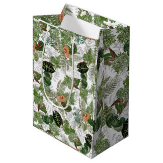 Rain Forest Ferns Leaves Flowers Islands Gift Bag